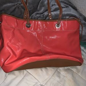 Nine West beautiful coral color tote/ purse bag